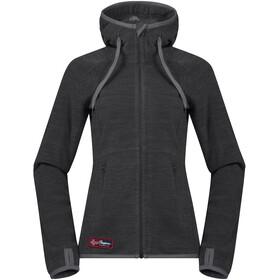 Bergans Hareid Jacket Women solid charcoal melange/grey